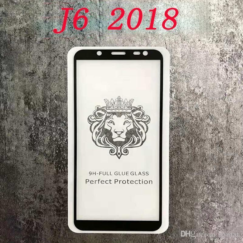 250 Primeiro completa Com 2018 Protector temperado Glue J7 J8 Varejo Glue J3 curvo vidro 2018 Tela Borda Pacote Para yxlRm net_store