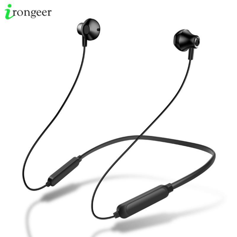 Шейным Спорт беспроводной Bluetooth наушники Мини-вкладыши Запуск гарнитуры с микрофоном для 11 Pro Max Huawei Большинство смартфонов