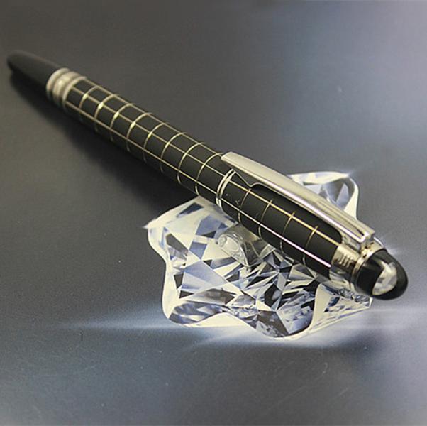 Big promoção da marca de luxo de alta qualidade M resina preta homens e mulheres de escritório escola caneta esferográfica