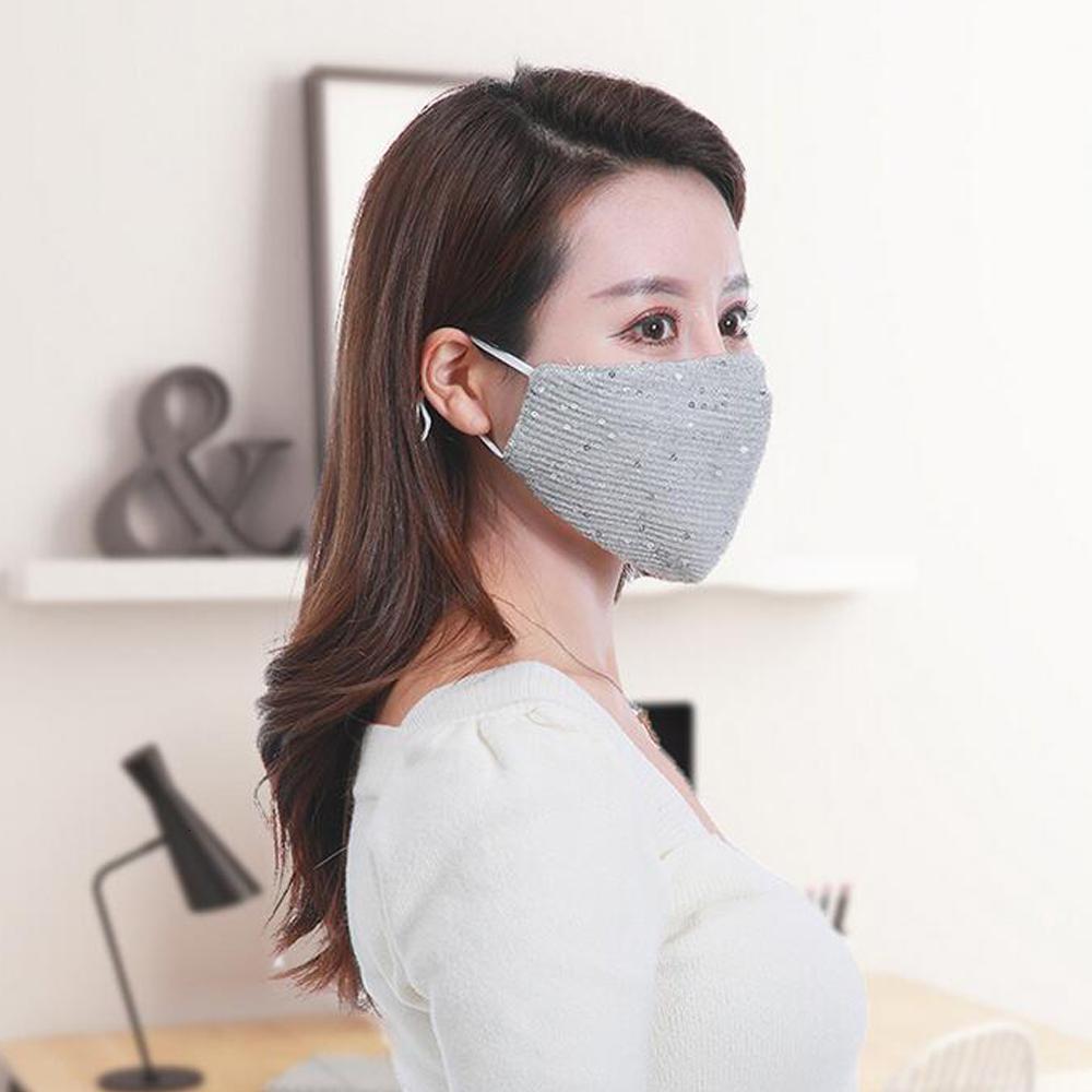 Sexy Vier-Art Schutz Speziell für die Frau Verwenden Direkt Sequin Gesicht Mundmasken und Atemschutz Männer Selling Jahreszeiten Xhlight Apoeu