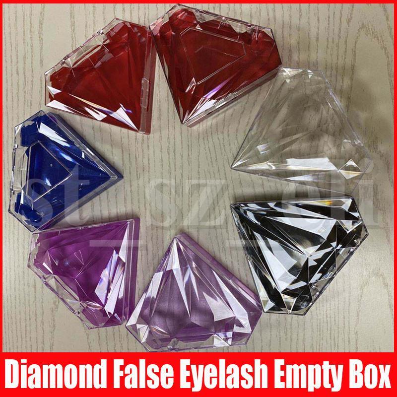 7 colori di plastica diamante Ciglia di imballaggio scatole regalo Lashes pacchetto bagagli casi di trucco della cassa cosmetica di visone ciglia finte