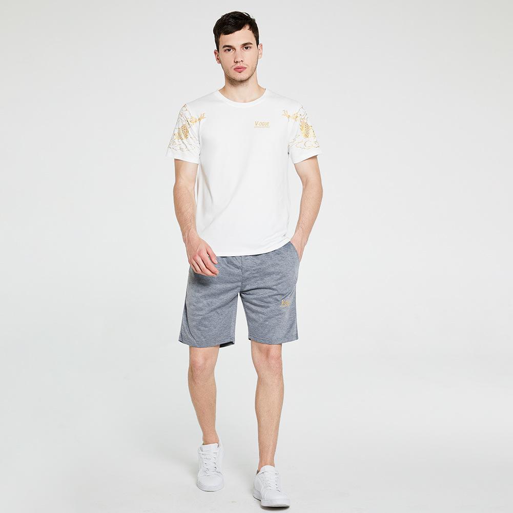 Verão Esporte Homens Sportwear T camisas e calças Calções de corrida Define Suits roupas esportivas Corredores Training Gym Fitness Homens Fatos