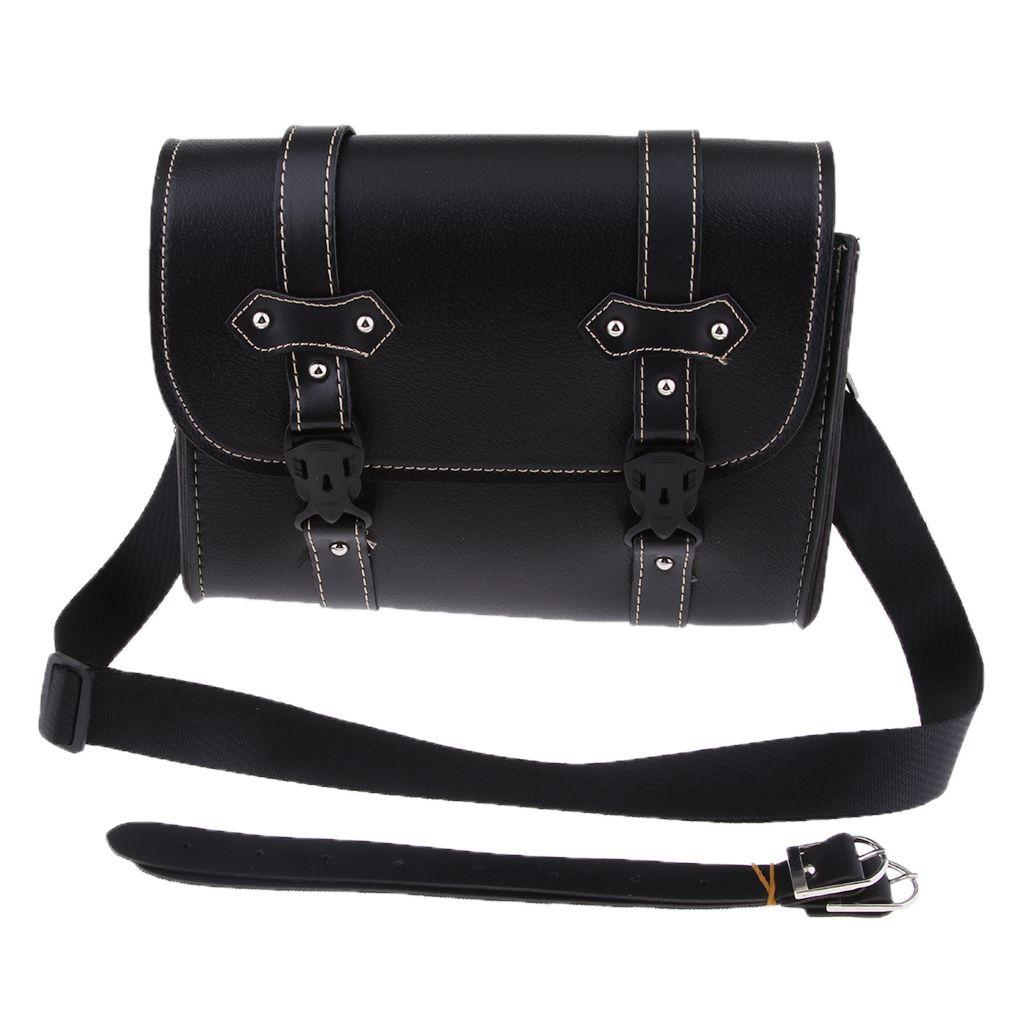 Мотоцикл Saddle Bag Side хранения багажа Вилка Инструмент Чехол для Harley (черный)