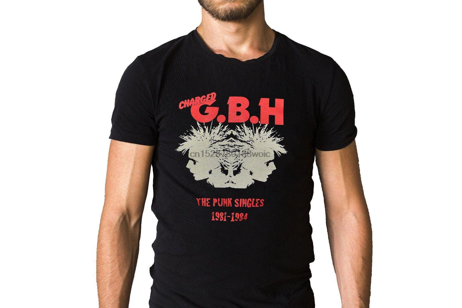 Geladene Gbh The Punk Singles 1981 1984 Cd Kunst-Abdeckung T-Shirt