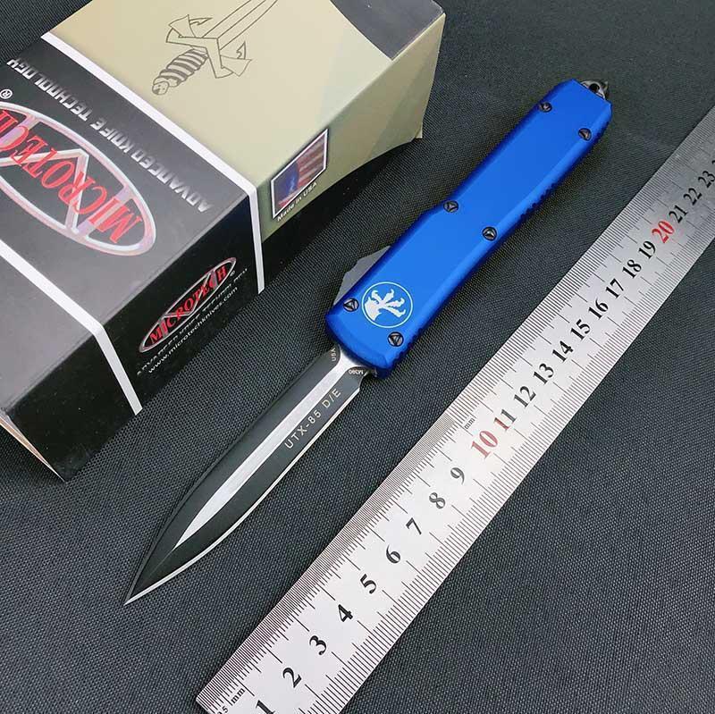 Bıçak Havacılık Mt Otomatik Otomatik Bıçak UTX Çift Eylem Alüminyum Sıcak Edc Cnc Bıçaklar BdKcN outdoors2009 85 Taktik Mavi Kol