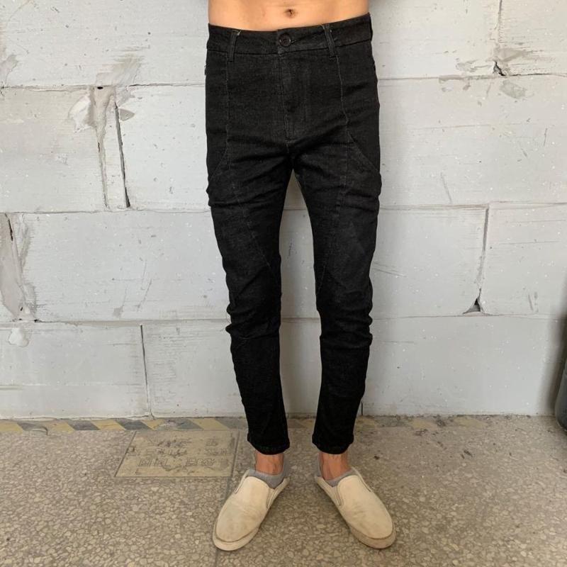Erkek Kot Owen Seak Erkekler Denim Pamuk Rahat Giyim Yüksek Sokak Dış Aşınma Sonbahar Katı Kalem Pantolon