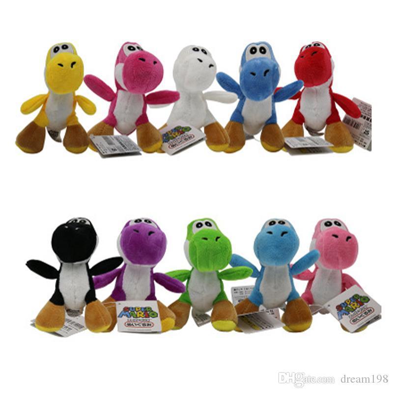 Commercio all'ingrosso di New Yoshi Dinosaur Luigi Bros peluche del giocattolo Ciondoli con portachiavi farciti bambole per i regali 4inch 10 centimetri