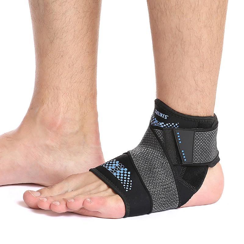 Deporte tobillo corsé protector ajustable Pies compresión esguince Anti-Apoyo Wrap vendaje de protección con correa