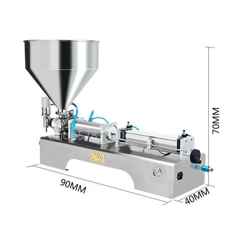 bocal único colar de enchimento da máquina de enchimento quantitativa equipamento de embalagem de gel líquido viscoso colar a máquina de enchimento automático quantitativa