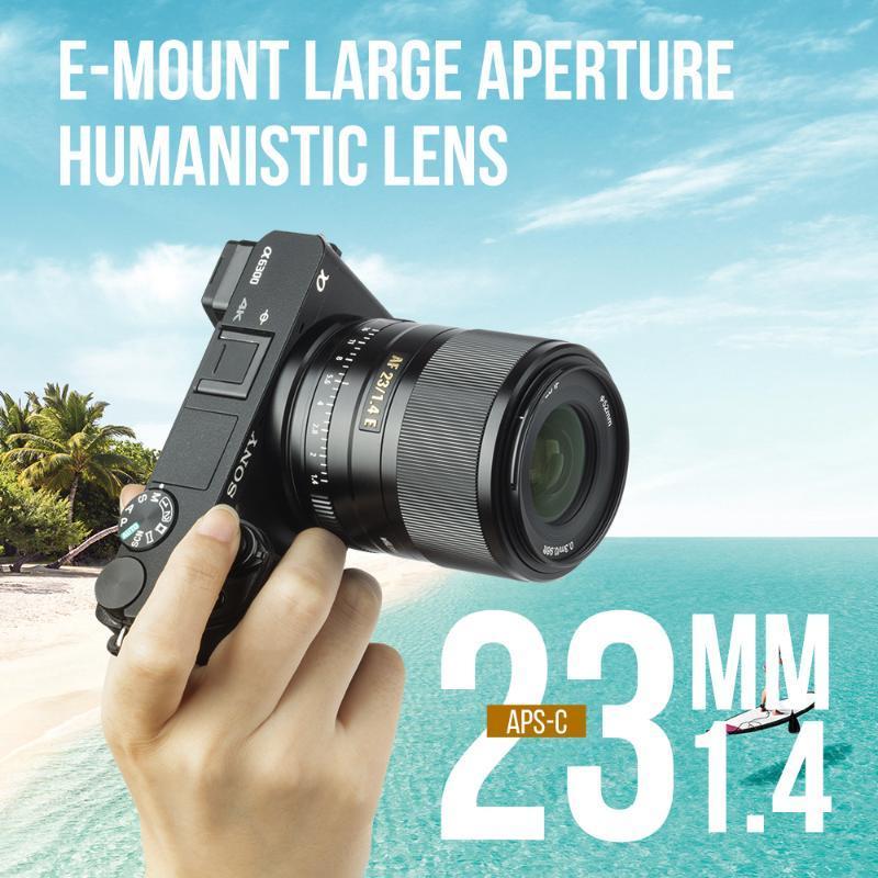 Viltrox STM 23 milímetros F1.4 Para Sony E-mount Camera Lens para Sony A6300 A6600 A6100 A6500 Auto Focus AF 23 / 1.4 E APS-C Lens