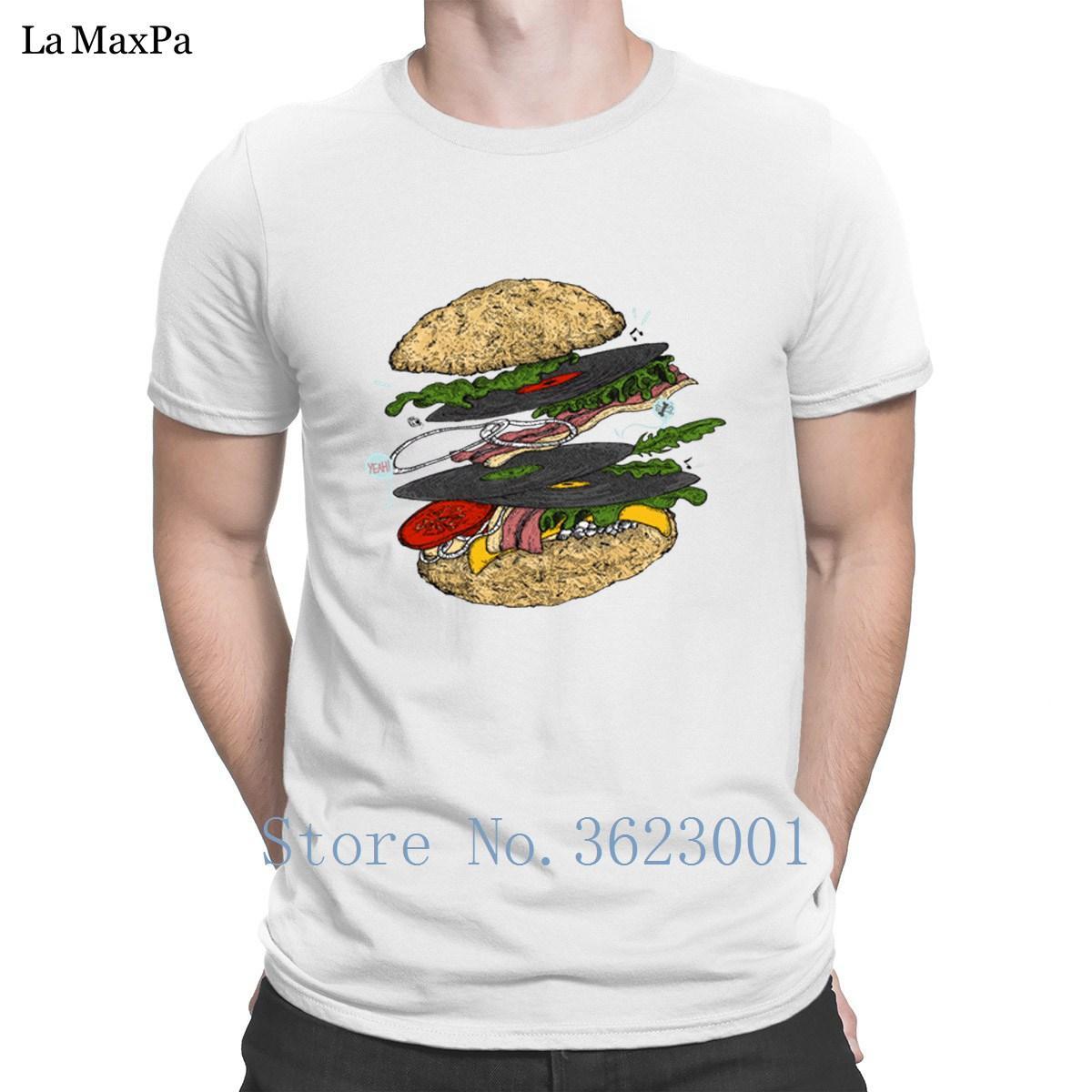 Designer cadeau T-shirt pour les hommes Burger Musical T-shirt des hommes T-shirt de coton d'été de style T-shirt des hommes T-shirt de style cool