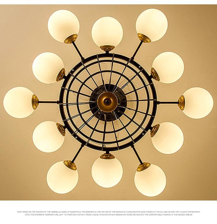 Ventilateurs électriques Plafonnier Moderne Minimaliste LED Lampe à économie d'énergie Mute Anion Chambre à coucher Salon Salon