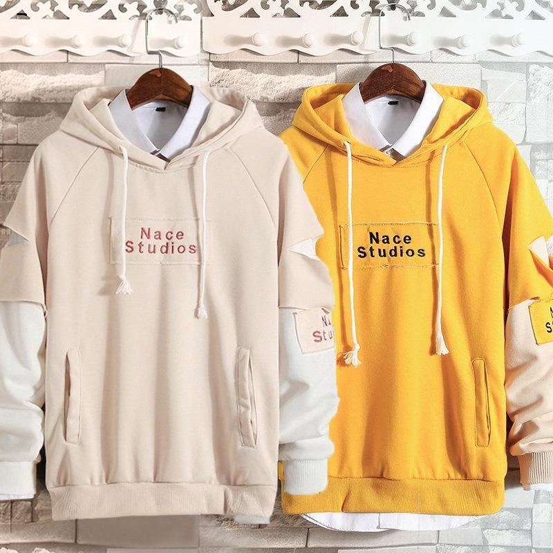 Kl0ls Autumn Sweater Männer Mantel Hoodie koreanische Hoodieart Pullover los PD Artpaar Abnutzungs Brief Mantel Modemarke q3EyX