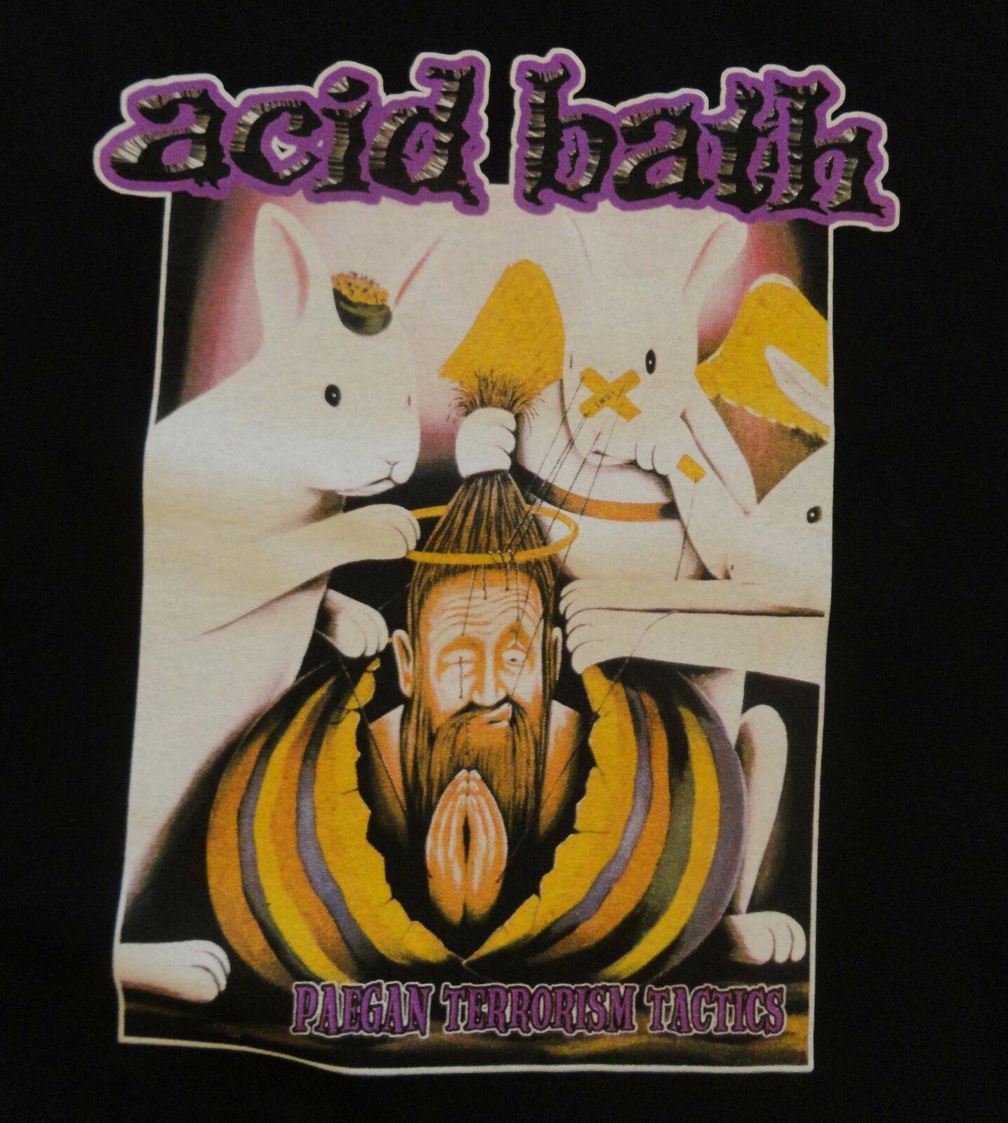 ACID BATH - Paegan Терроризм Тактика T-Shirt - Официальный Новый летний стиль верхней тройник