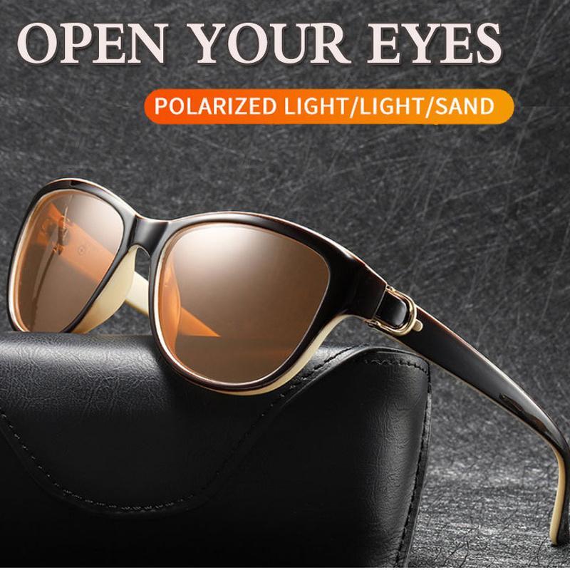 Lunettes de chat polarisé 2020 lunettes de soleil lunettes de soleil Design Hommes Soleil Soleil Femmes Eye femme femme élégante PWCDR