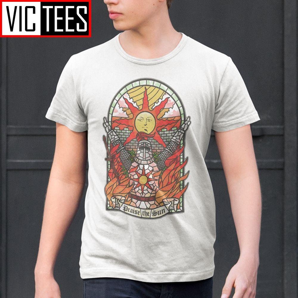 Dark Souls Church 3 dos homens do Sun T-Shirt Praise the Sun Youth Tees algodão de Nova Camiseta Roupa Moda