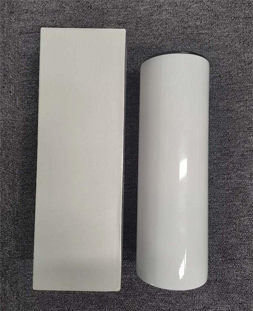 30oz Sublimação Reta copo de aço inoxidável de aço inoxidável sublimação de sublimação caneca garrafa de água de vácuo de parede dupla A02
