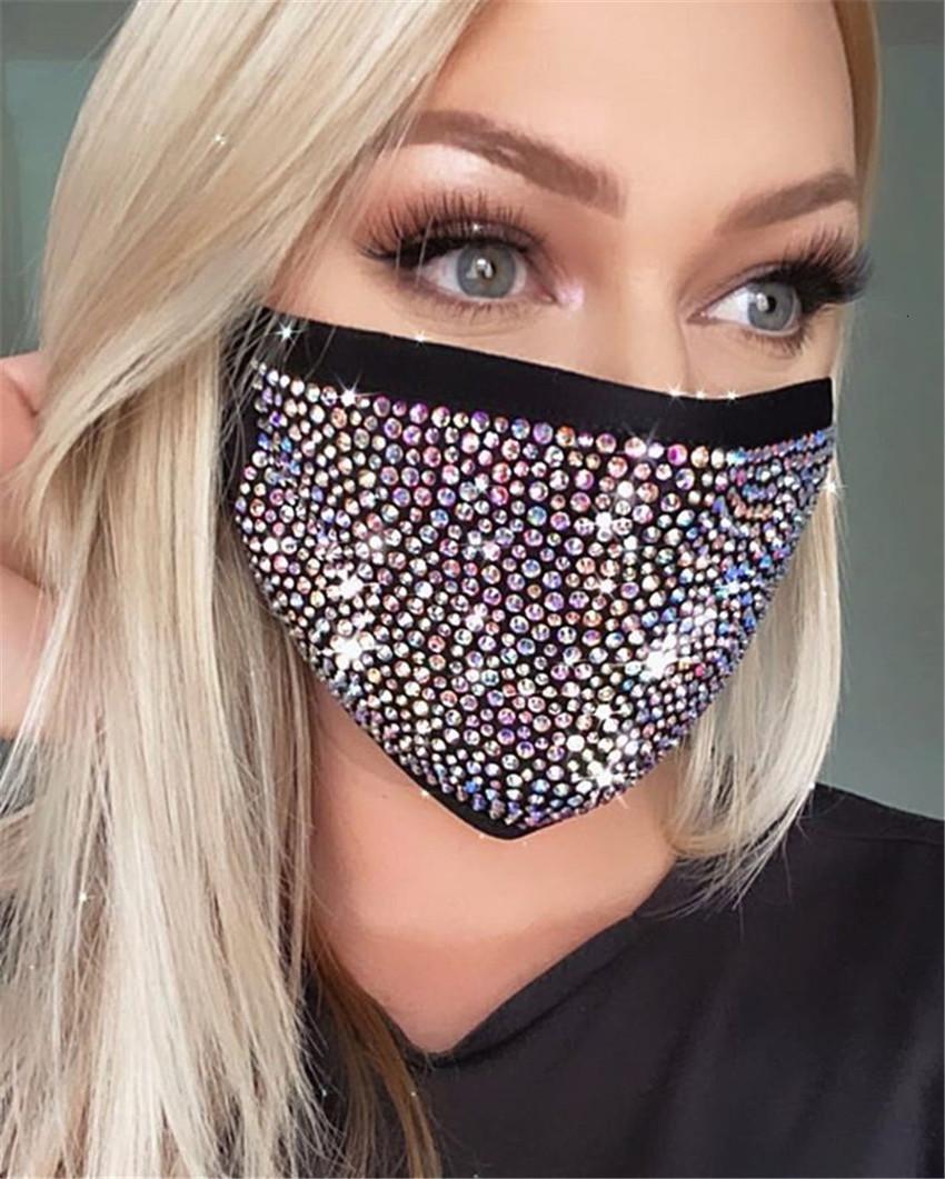 nuova moda accessori Diamante di colore strass 2020 delle donne maschera Z1296