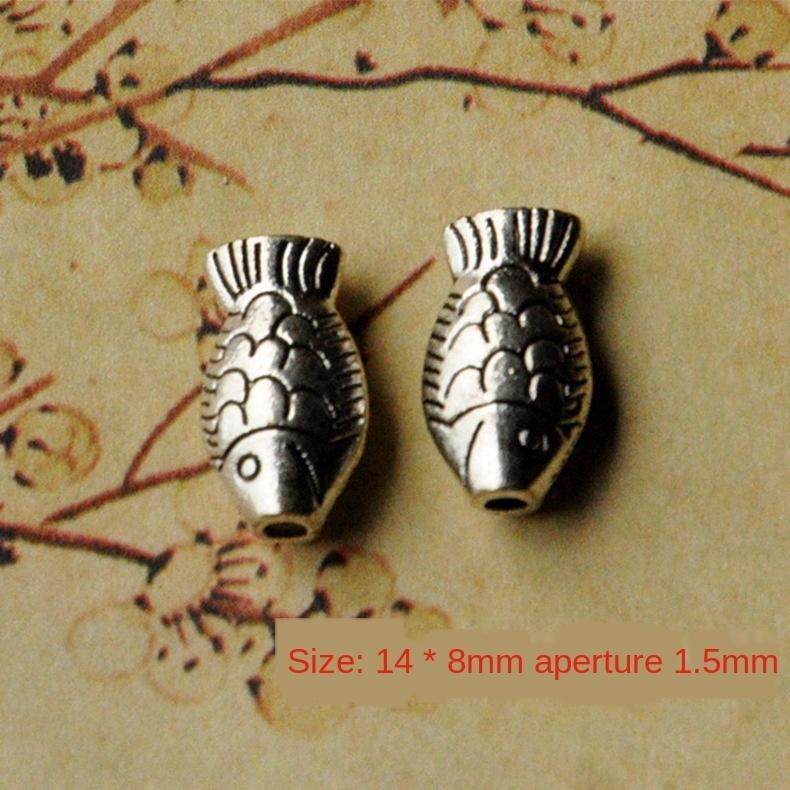 j3kvV ювелирных изделия поделки Diy аксессуары браслет аксессуары браслет материал древних серебряной маленькая рыба ожерелье ткацкого материал небольших ювелирных изделий