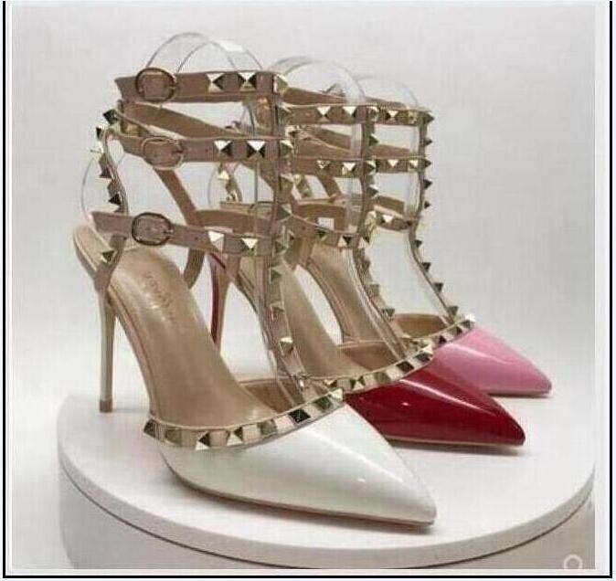 Bombas de 2020 mulheres transporte livre fundo vermelho sapatos de saltos dedos apontados couro sapatos stiletto partido do vestido de casamento Sexy Shoes
