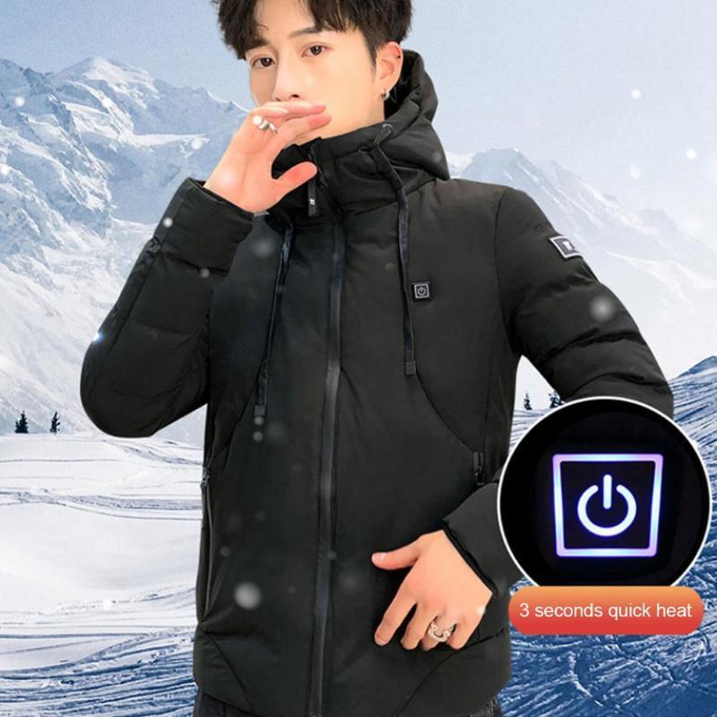 6xl aquecedor jaqueta elétrica exterior usb aquecido casaco térmico roupa térmica roupa lavada vestes inverno dropshipping