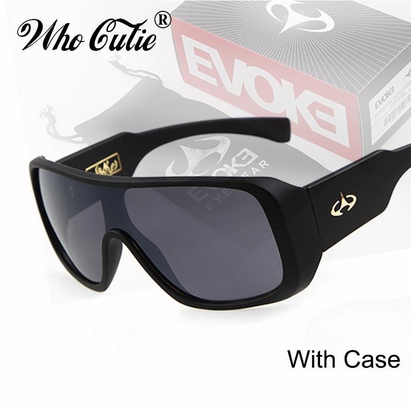 Chi Cutie marca Evoke occhiali da sole Uomo Classic One Piece Piazza di guida di vetro di Sun Shades Maschio Designer Oculos Om283