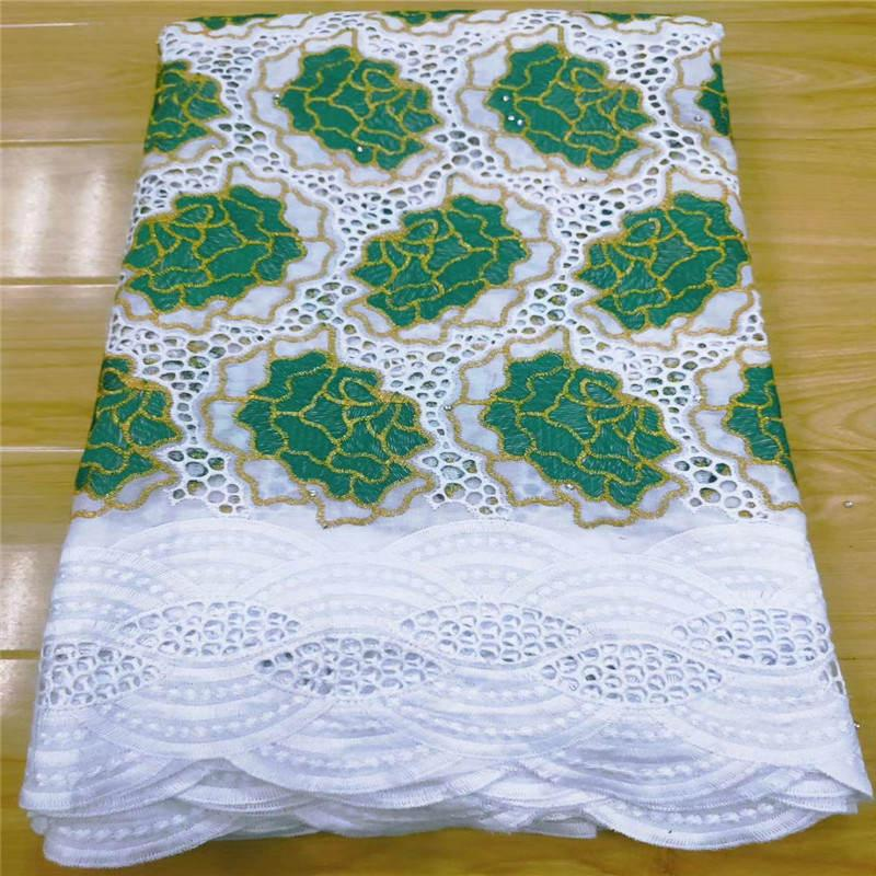 2020 High quality african swiss voile lace fabric cotton embroidery net laces fabric popular dubai style 5 Yards.13L781526
