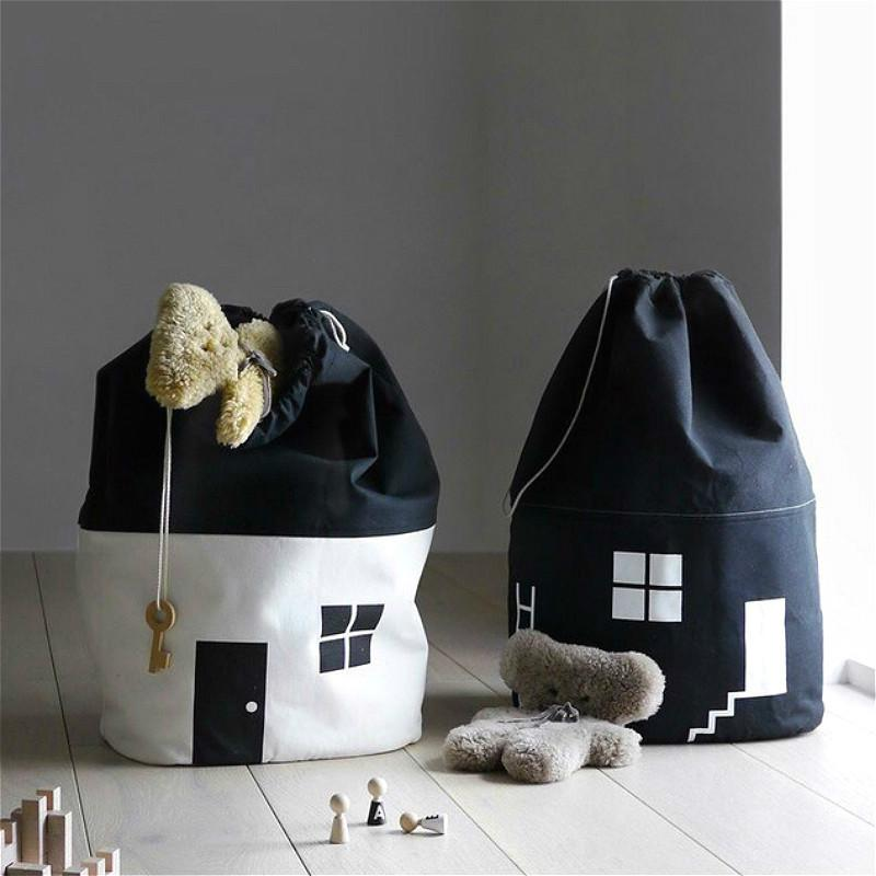 Grande maison sac de rangement Sac à cordonnet Faisceau de stockage de jouets pour enfants Ensemble poche poche débris de finition Paquet Organisateur Home Decor