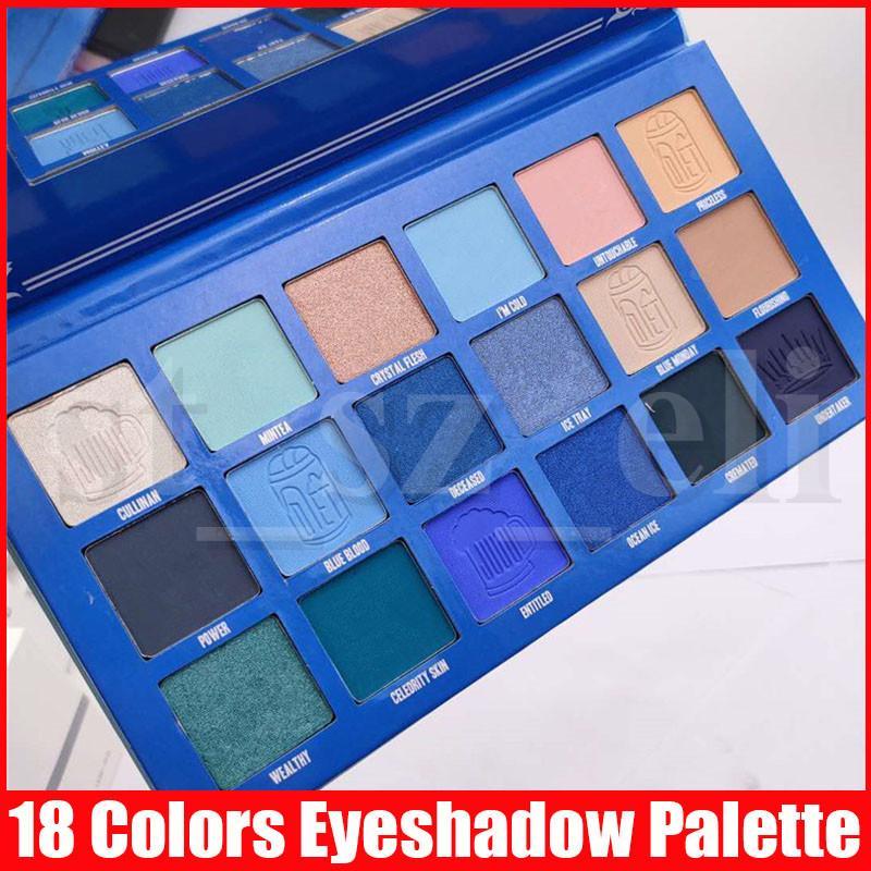 Star Eye Makeup Blue Blood pigment eyeshadow palette 18 color Long Lasting Shimmer Matte eye shadow palettes