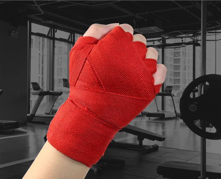 1set = 2pcs New Boxing avvolge punzonatura Wrap mano Training Boxing Muay thai Guanti Training polso Protect 2 colori