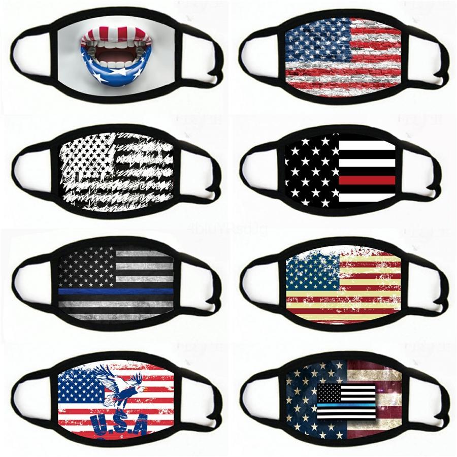 Baskı Amerikan Bayrağı Desen Maskeler Unisex Motosiklet Eşarplar Başörtüsü Yüz Maske GH288 Y5LQ ## 216