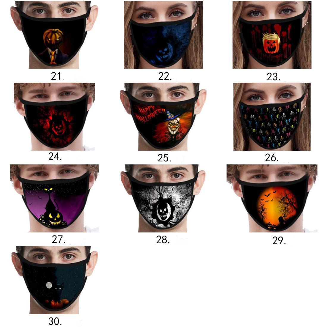La moda de Halloween divertida personalizada máscara masque decoraciones de Navidad de dibujos animados para adultos máscaras de algodón reutilizable mascherina máscara lavable libre de DHL