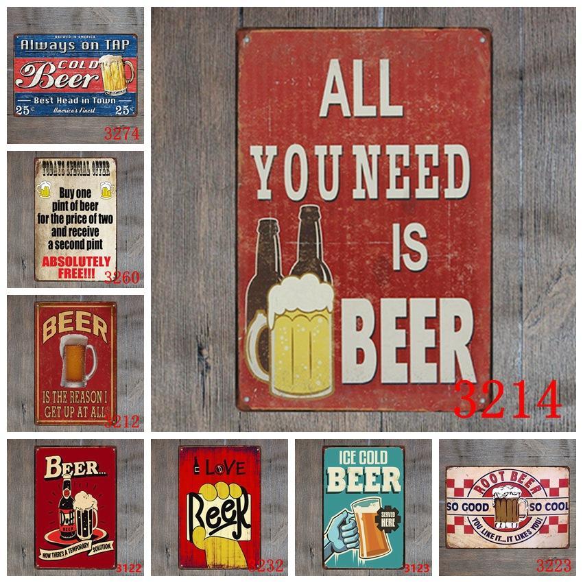 Metal Tin Signs Bar Poster Beer Plaque Bar Art Sticker Iron Paintings 20*30cm Decorative Iron Plates Bar Club Wall Decor Plaque YFA2572