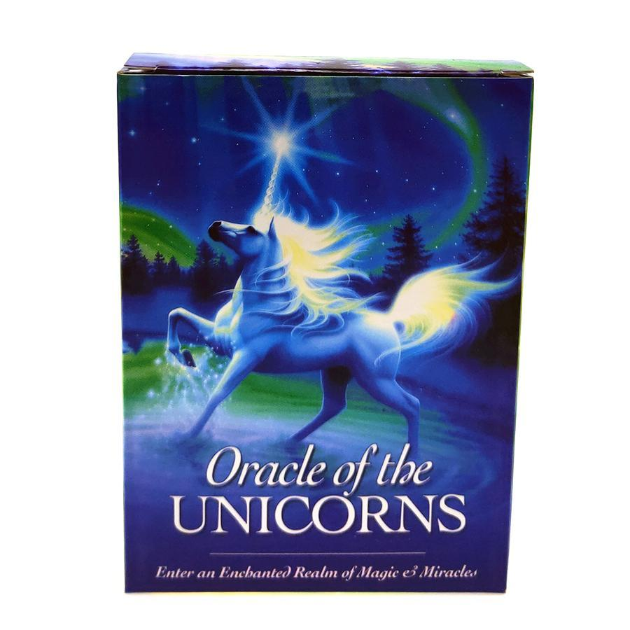 Vollständige Oracle New Divination Einhorn Karten Karten Oracle Tarot Fate Of Cards Guidance Deck Unicorn Brettspiel Englisch Mysterious bbySSi