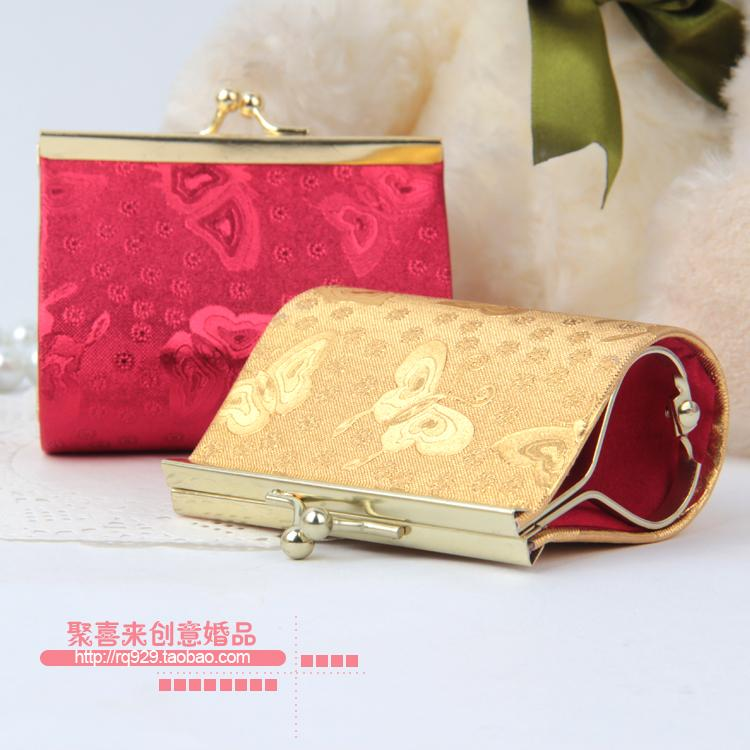 Buckle Wallet Wedding Candy Box Brocade Gourd Candy Box Bag Clip Small Ideas Leather Pcs Personalized Gift 10 Jkvaa