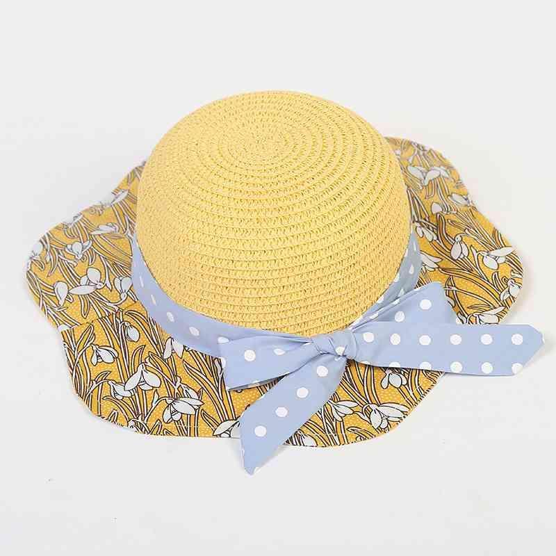 MYZOPER 2020 Art und Weise neuer Druck-Punkt-Bogen-Frauen-Sommer-Hut beiläufige Gezeiten der koreanischen Version Strand-Hut-Sommer