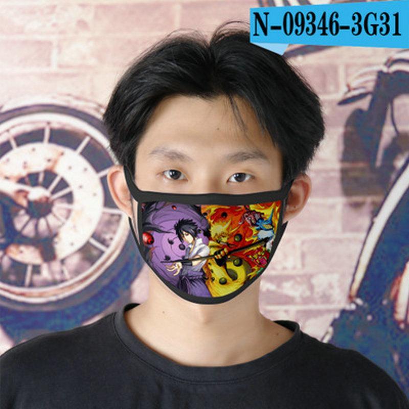 Cubrebocas meninas Designer Máscara dos desenhos animados para 05 Ao Naruto Tapabocas rosto reutilizável Hdeoy Pp2006 em Stock5231