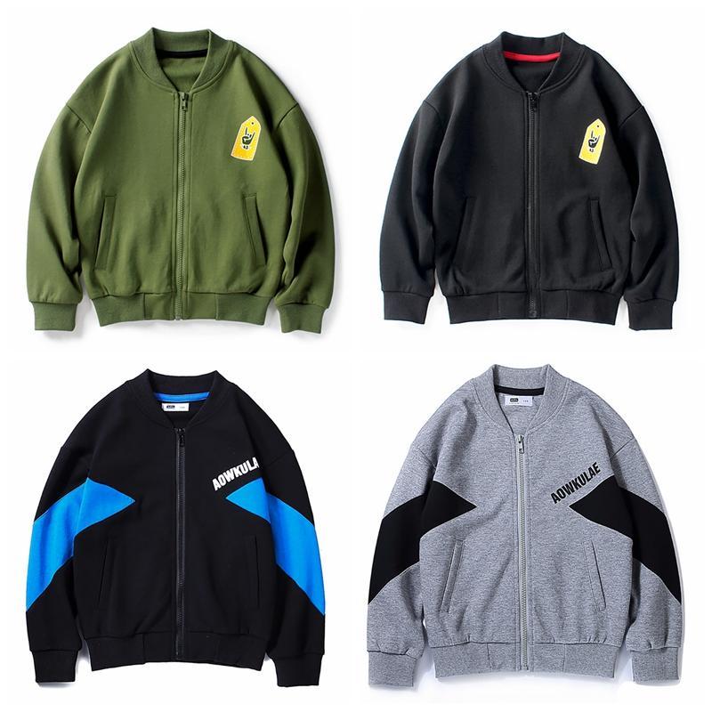 2020 Ragazzi Zipper cappotto Giacche bambini Outwear modo del cappotto di autunno della molla dei vestiti del casaul dei ragazzi del cardigan per 1-8 anni i bambini