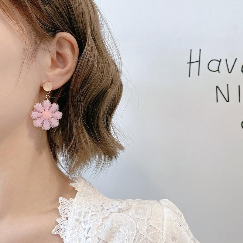 7IsSg S925 серебряная игла преувеличены кристалл цветок женщин 2020 новый кристалл и серьги онлайн знаменитости элегантные серьги серьги