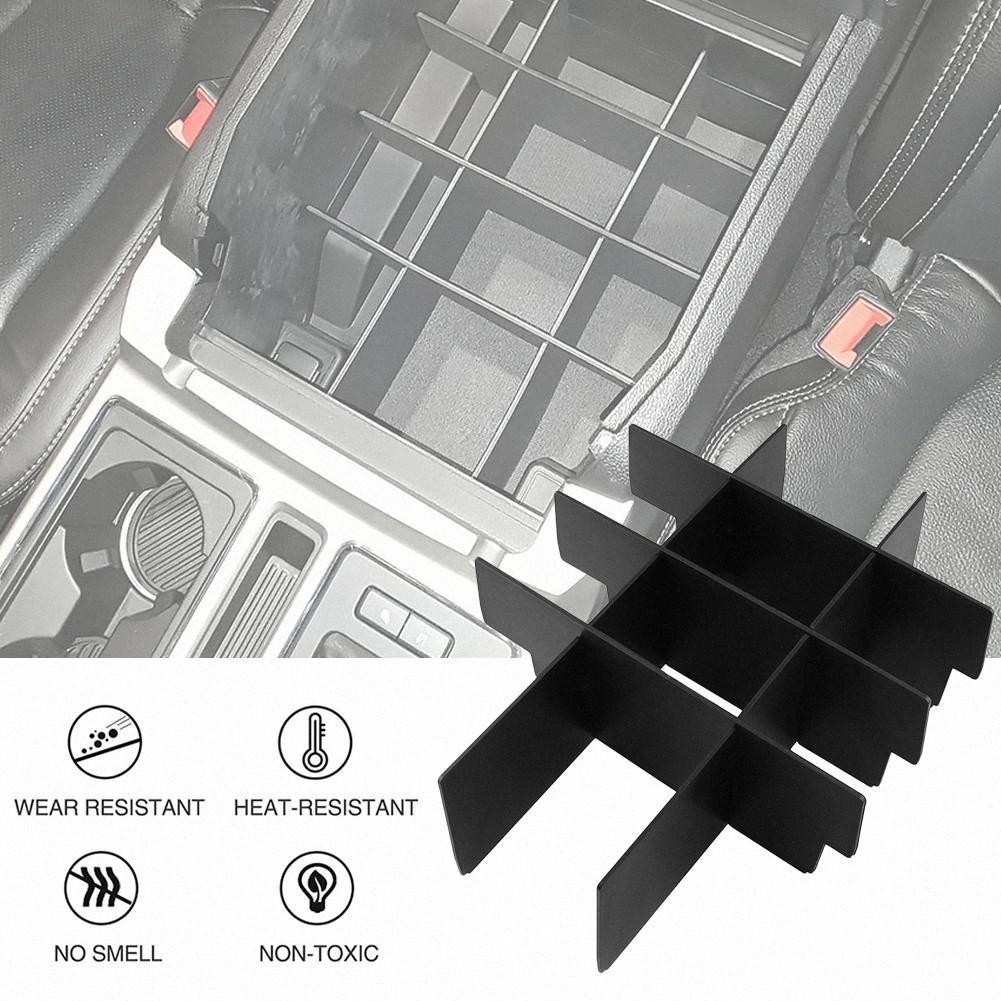 Materiali vassoio Car Center Console organizzatore per F150 nera dell'automobile Storage Accessori Auto Stuff Box bracciolo Box di stoccaggio dxut #