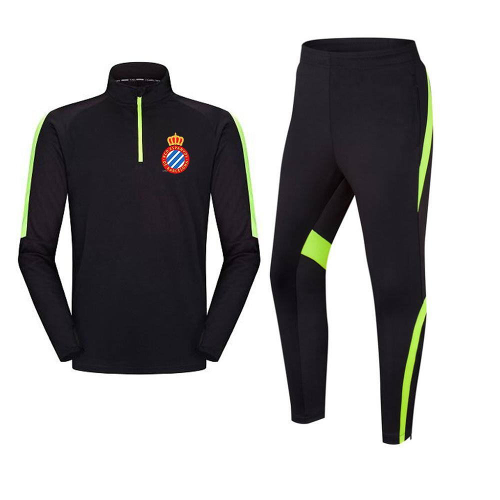 Эспаньол F.C Мужская Tracksuit футбол куртка отдыха тренировочные костюмы Открытый Спортивная Беговая Туризм одежда