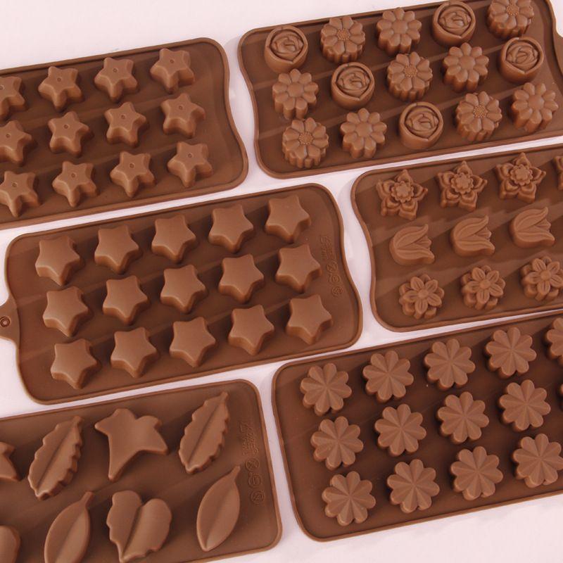 سيليكون قالب الشوكولاته القلب جولة الهرم الكرتون الحيوان تصميم قالب سيليكون 3D جيلي وقوالب حلوى GWF1932