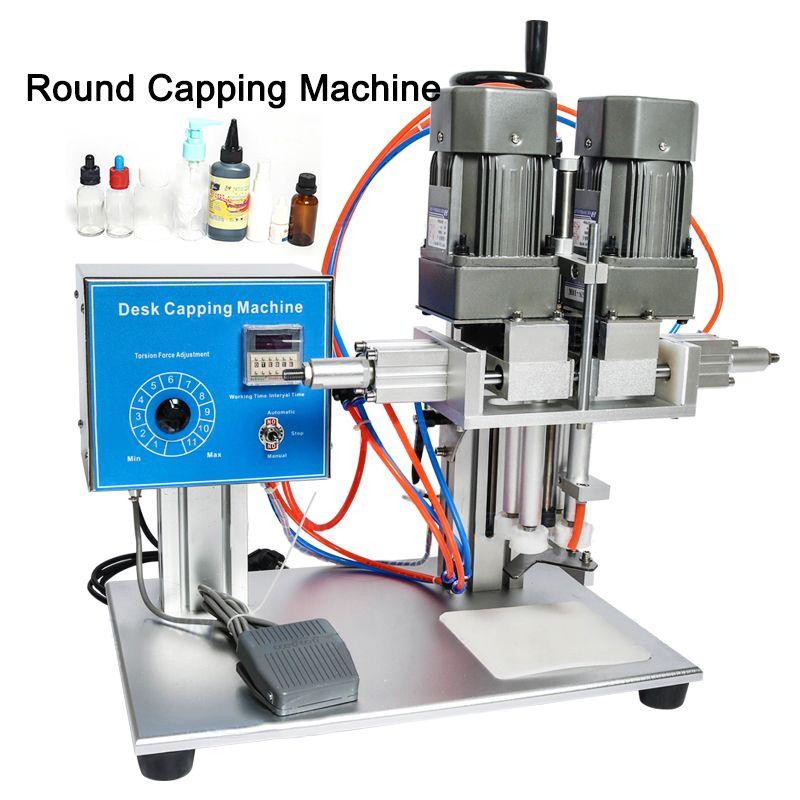 Área de trabalho automática Capping Cap Trigge Máquina Capper torção vedação de plástico de vidro conta-gotas bico Bolsa Garrafa nivelamento da máquina