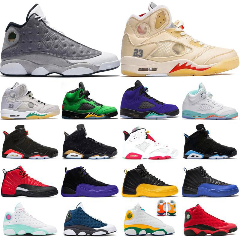 2020 New Reverse Flu Game 12s Men Basketball Shoes 6s 5s TOP 3 Fire Red 2020 Sneaker Bred Playground 13s Mens Trainers