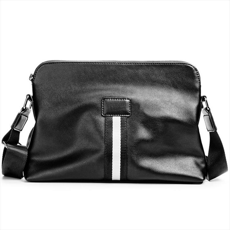 Messenger Bag nuovo modo di arrivo di marca degli uomini Borsa del cuoio di affari del progettista di spalla casuale di Crossbody Bag maschio Cartella