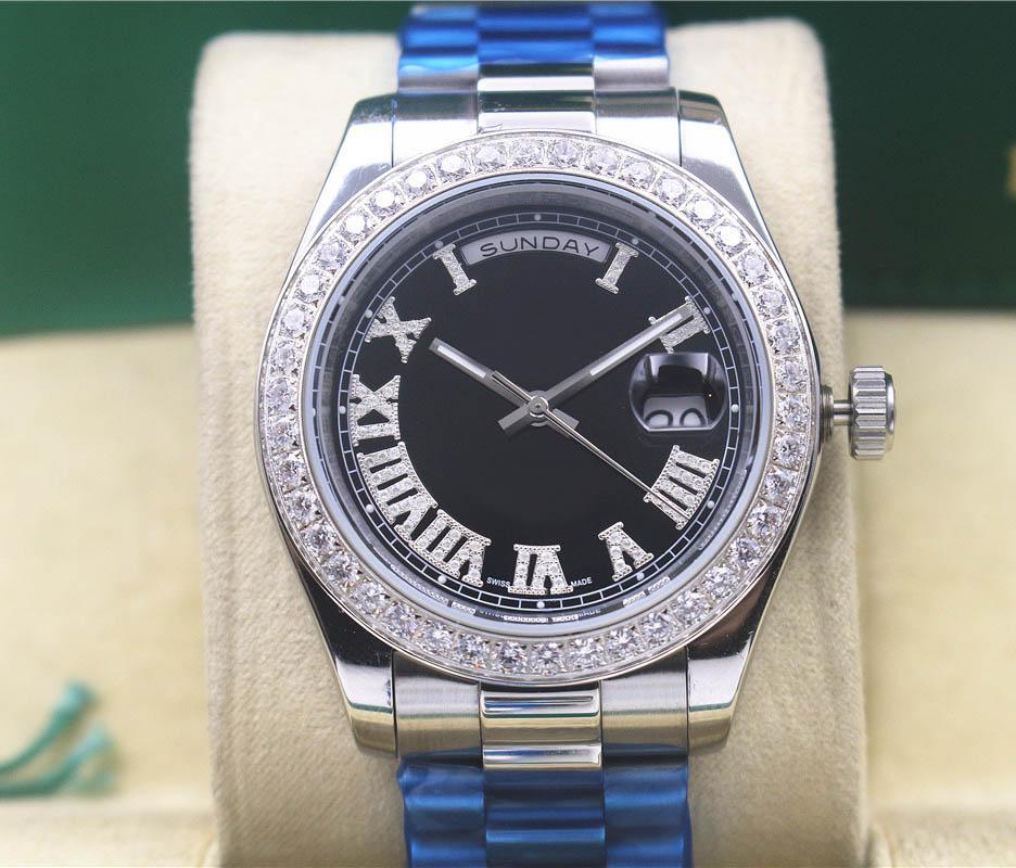 MECCANICO NUOVO CALENDARLO DUAL-CALENDARLO D'argento Colore Dial Body, set di lunetto con diamanti disponibili, orologio, multiplo 2020 OHAEH