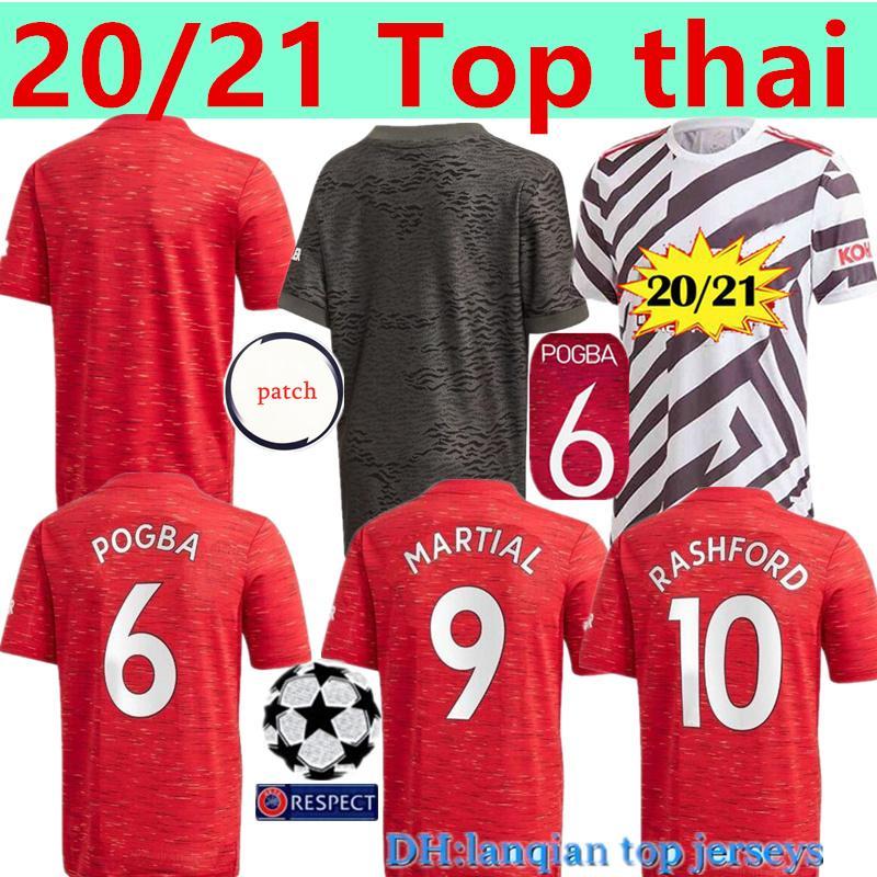Тайский 20 21 RASHFORD Pogba FERNANDES Манчестер футбол Джерси 2020 Объединенные 2021 MAN ГРИНВУД Юнайтед футбол рубашки мужские наборы комплект Майо-де-футовый