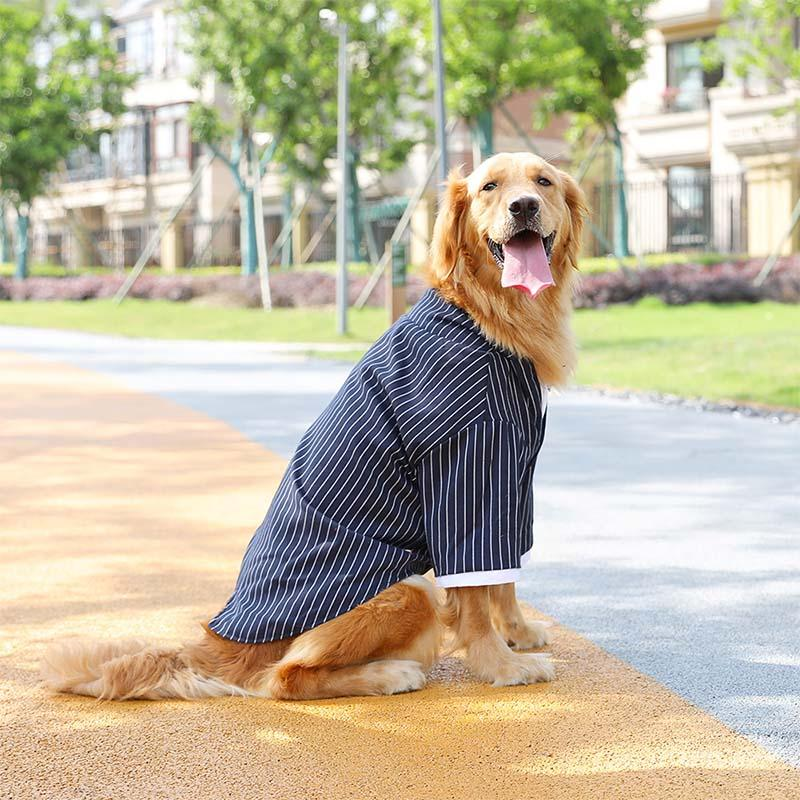 Pet Wedding Clothes for Medium Large Dogs Coat Striped Pet Shirt Clothing for Dogs Coat Formal Dog Suit Big Dog Costume Labrador