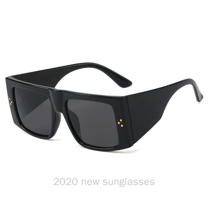 2020 Mulheres Sqaure Sunglasses Frame retro máscaras do inclinação dos óculos de sol dos homens de condução Goggles UV400 com caixa NX