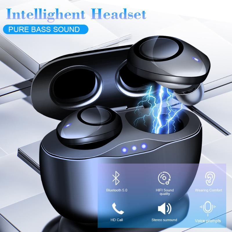 TWS Elegent В Ухо Мини Earbuds Gaming Bluetooth 5.0 Качество звука Hi-Fi с микрофоном Кнопка Contorl Беспроводная гарнитура